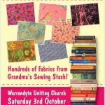 Fabric and Book Sale